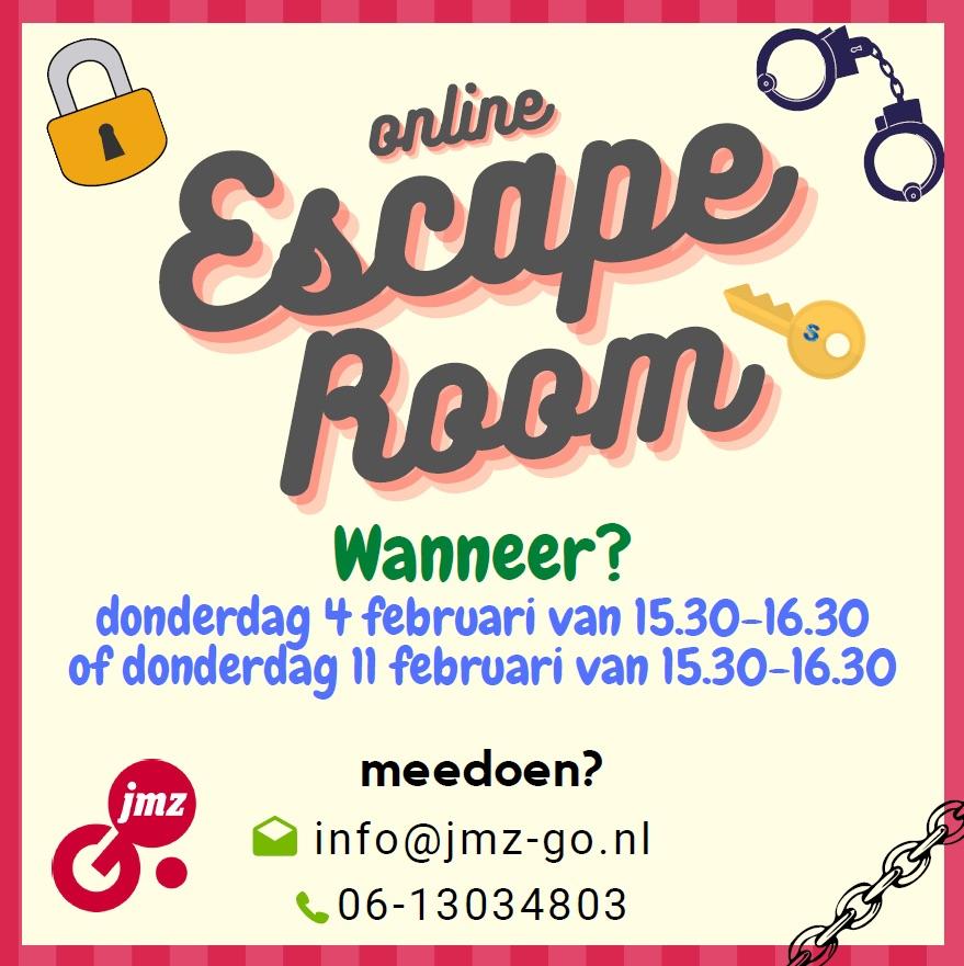 Online Escaperoom voor jonge mantelzorgers